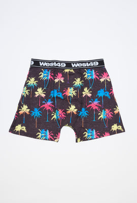 West49 Mens Neon Palm Trees Boxer Brief