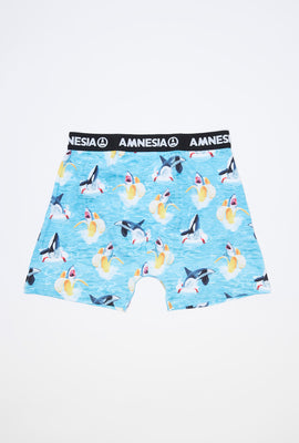 Amnesia Mens Banana Shark Boxer Brief