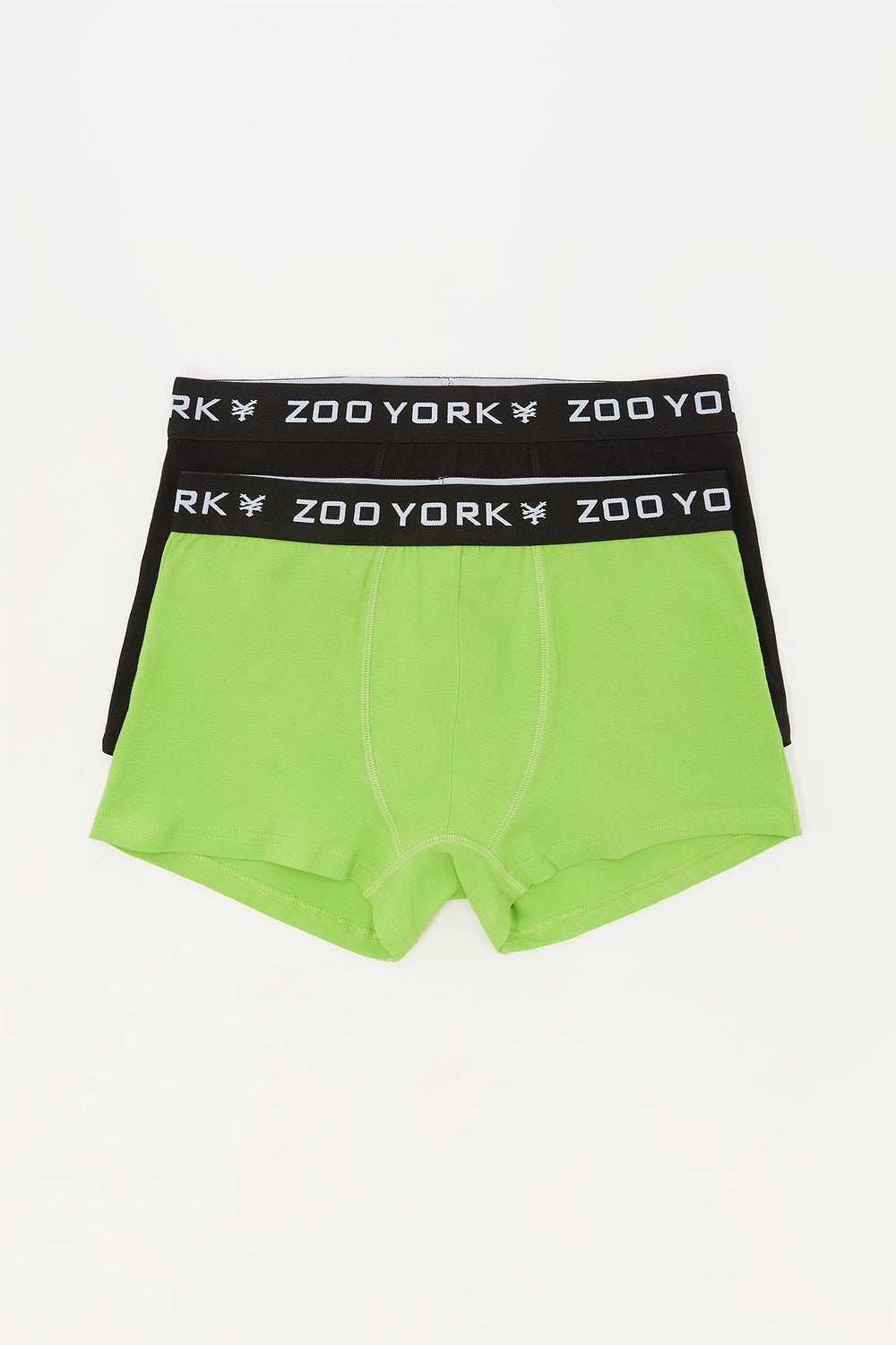 Zoo York Mens 2-Pack Cotton Boxer Briefs Green