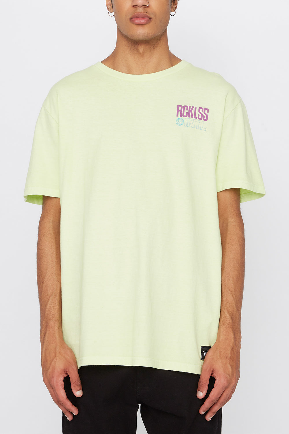 T-Shirt Fluo Young & Reckless Homme Vert