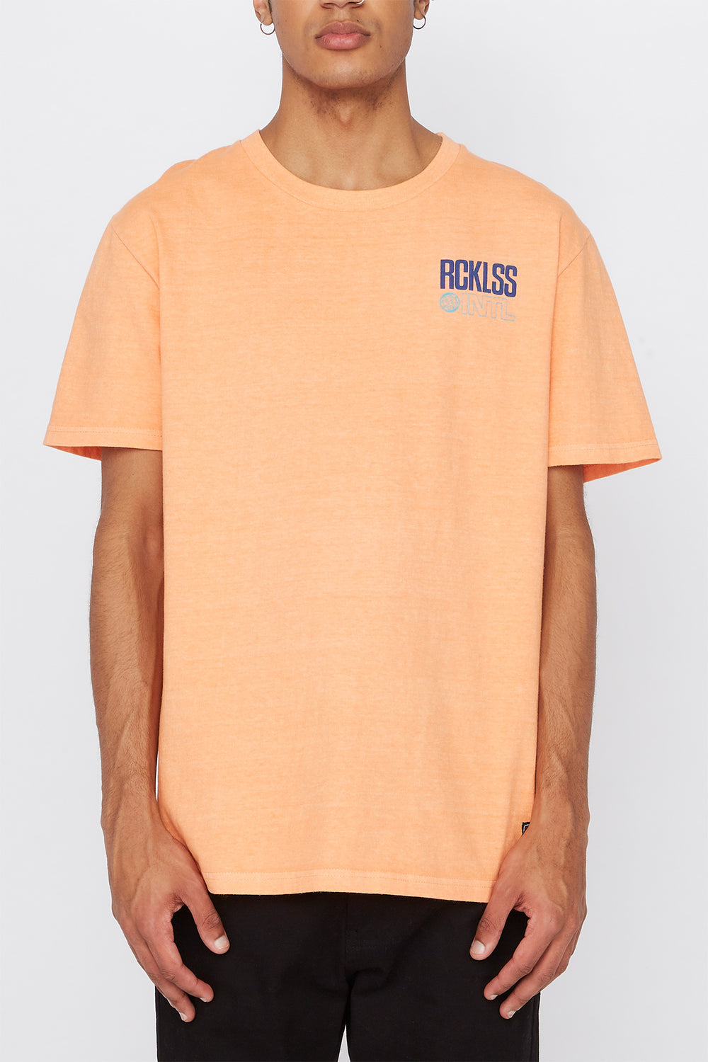 T-Shirt Fluo Young & Reckless Homme Corail