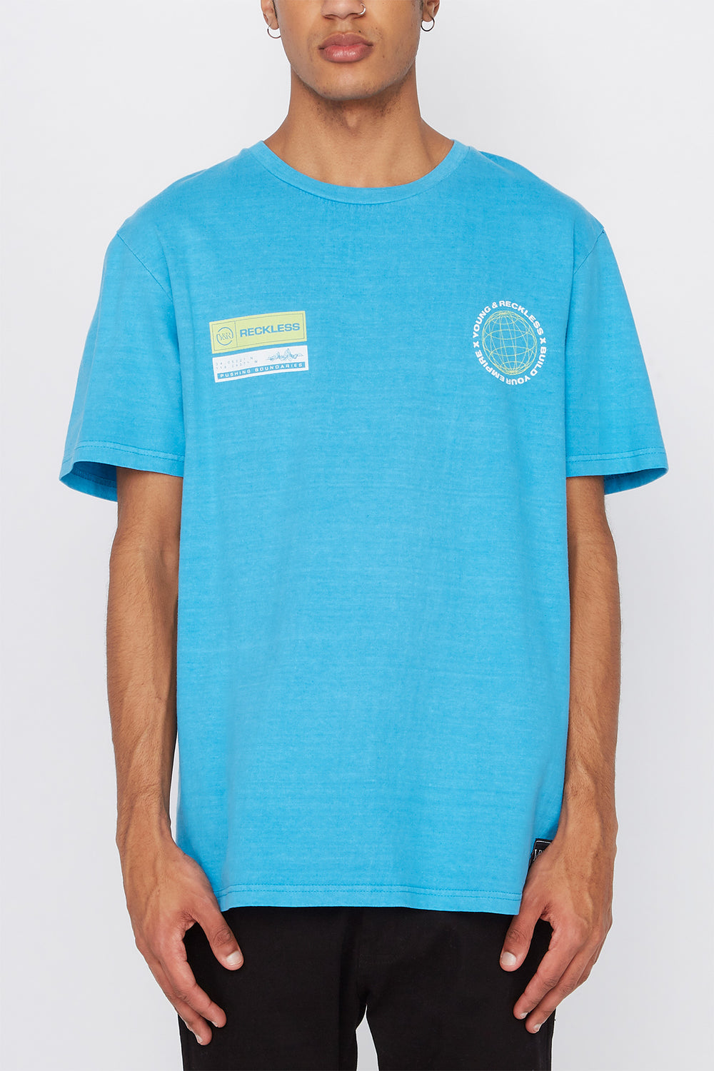 T-Shirt Build Your Empire Young & Reckless Homme Turquoise
