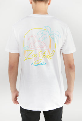 Zoo York Mens Flamingo Circle Logo T-Shirt