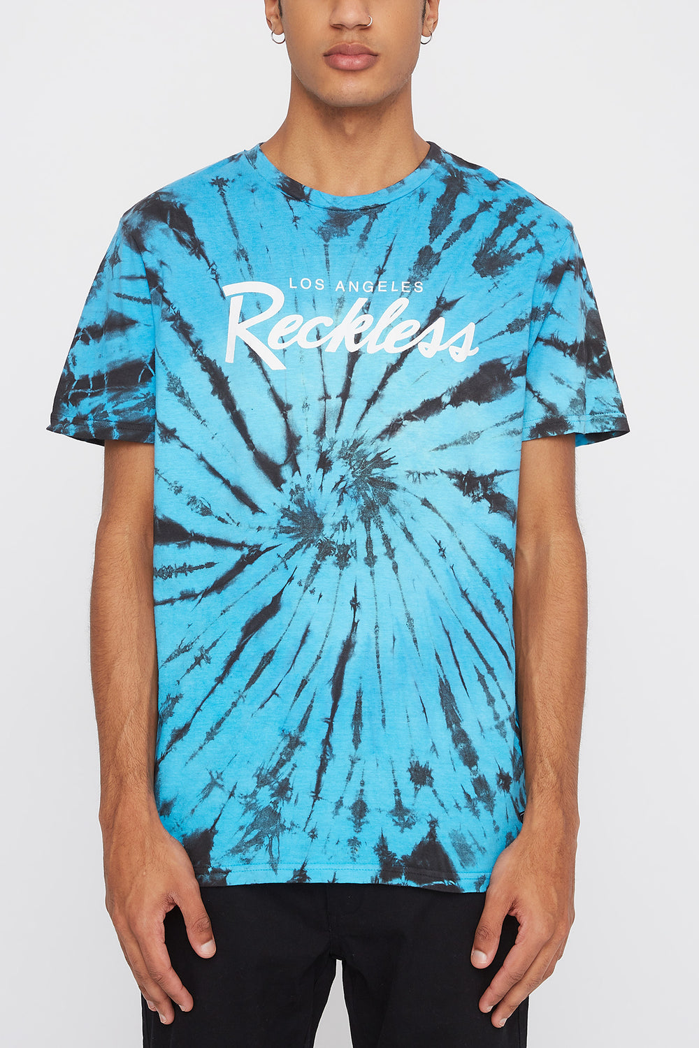 T-Shirt Tie-Dye Young & Reckless Homme Turquoise