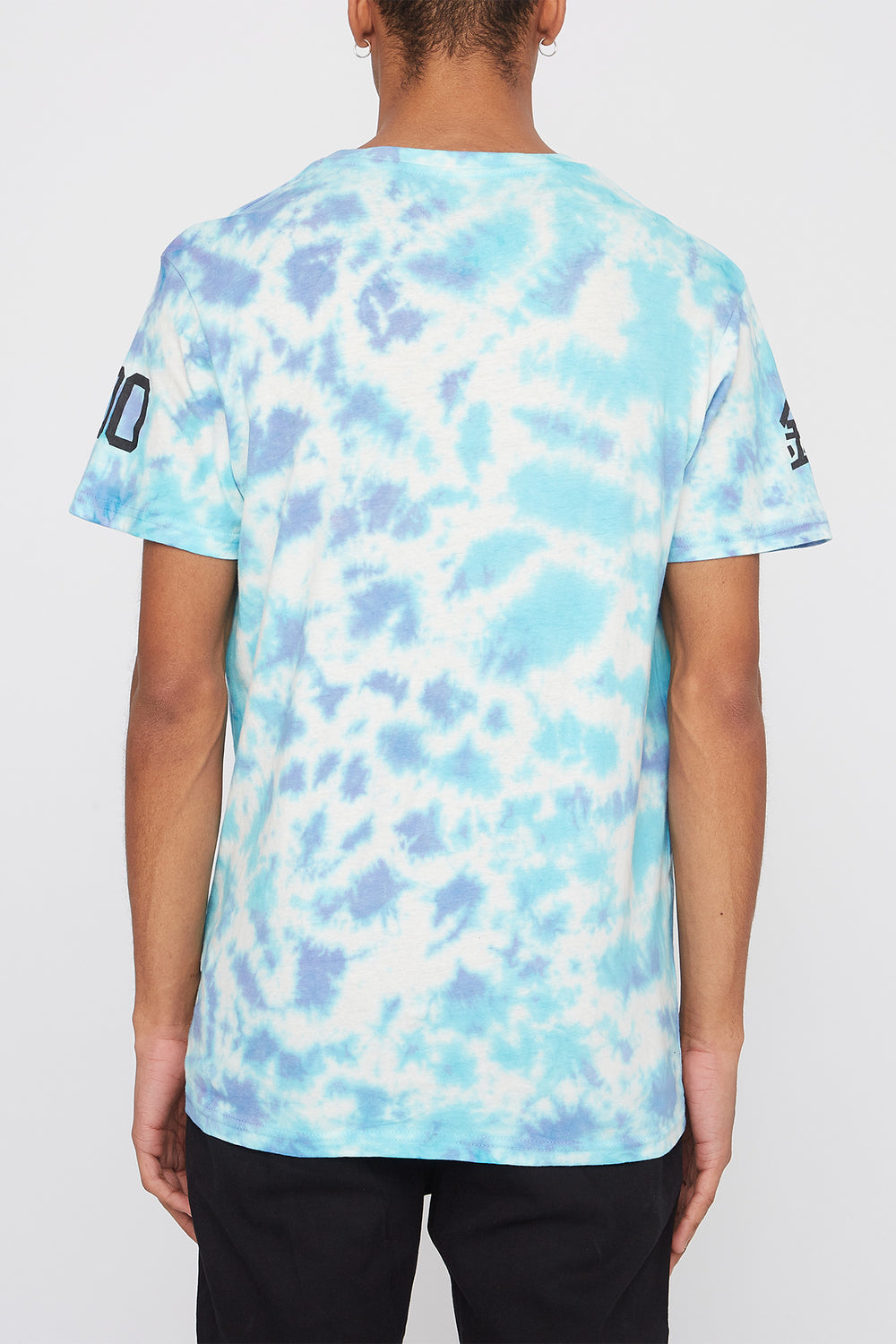 Young & Reckless Mens Logo Tie-Dye T-Shirt Blue
