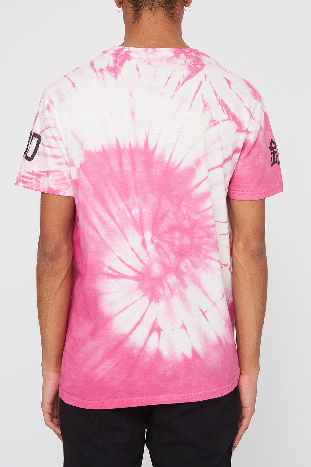 T-Shirt Tie-Dye Logo Young & Reckless Homme Rose