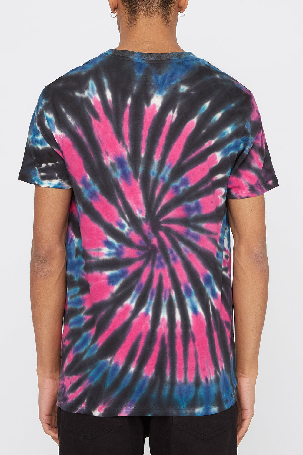 Young & Reckless Mens Tie-Dye T-Shirt Black