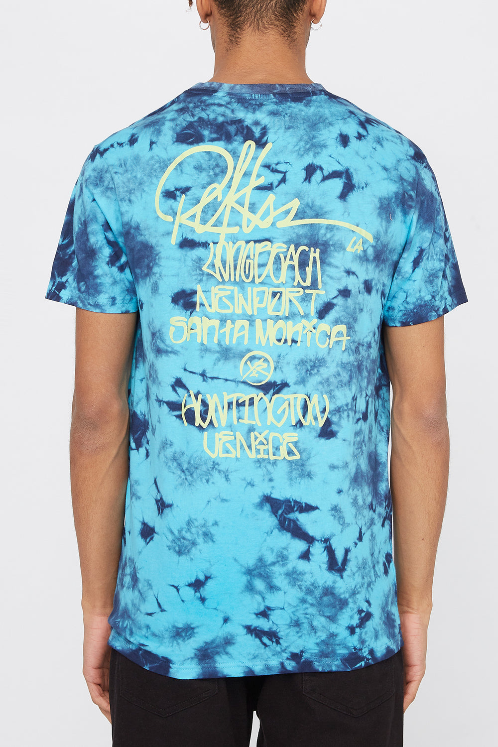 T-Shirt Tie-Dye Cities of LA Young & Reckless Homme Bleu