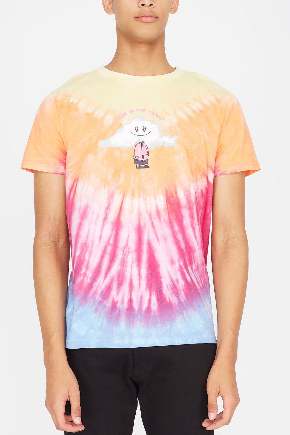 Mens Head In the Clouds Tie-Dye T-Shirt Multi