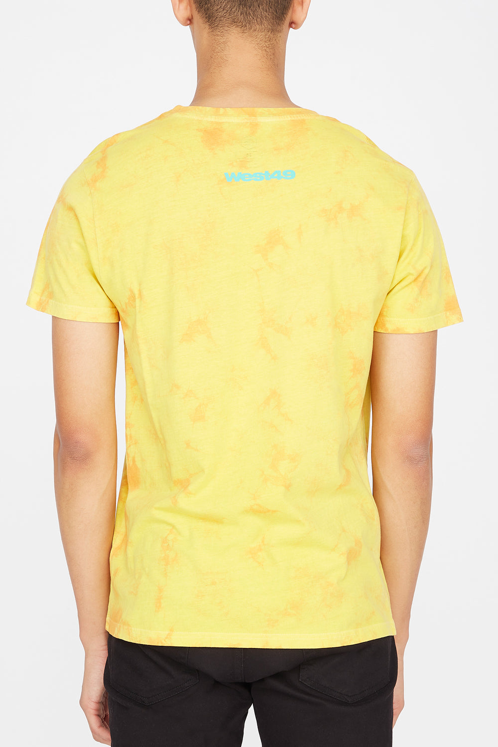 T-Shirt Tie-Dye Have a Nice Day Homme Jaune