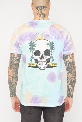 Arsenic Mens Graphic Tie-Dye T-Shirt