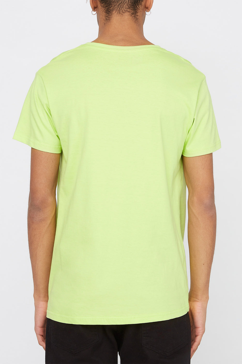 Young & Reckless Mens Electric Floral T-Shirt Neon Green