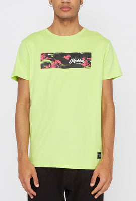 T-Shirt Floral Électrique Young & Reckless Homme