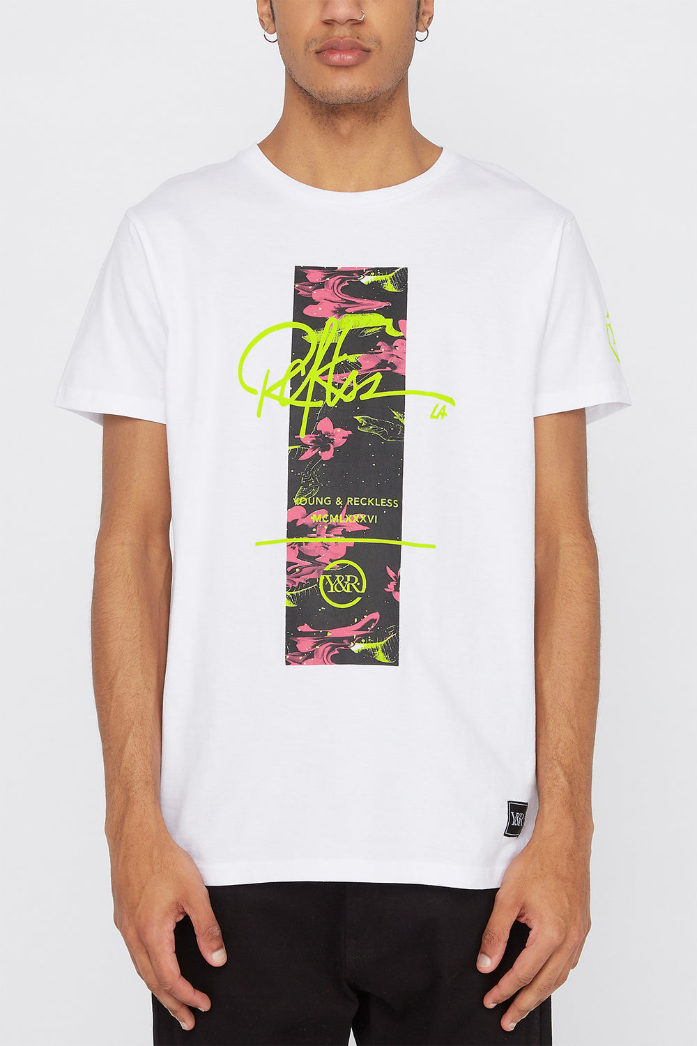 Young & Reckless Mens Electric Floral T-Shirt White