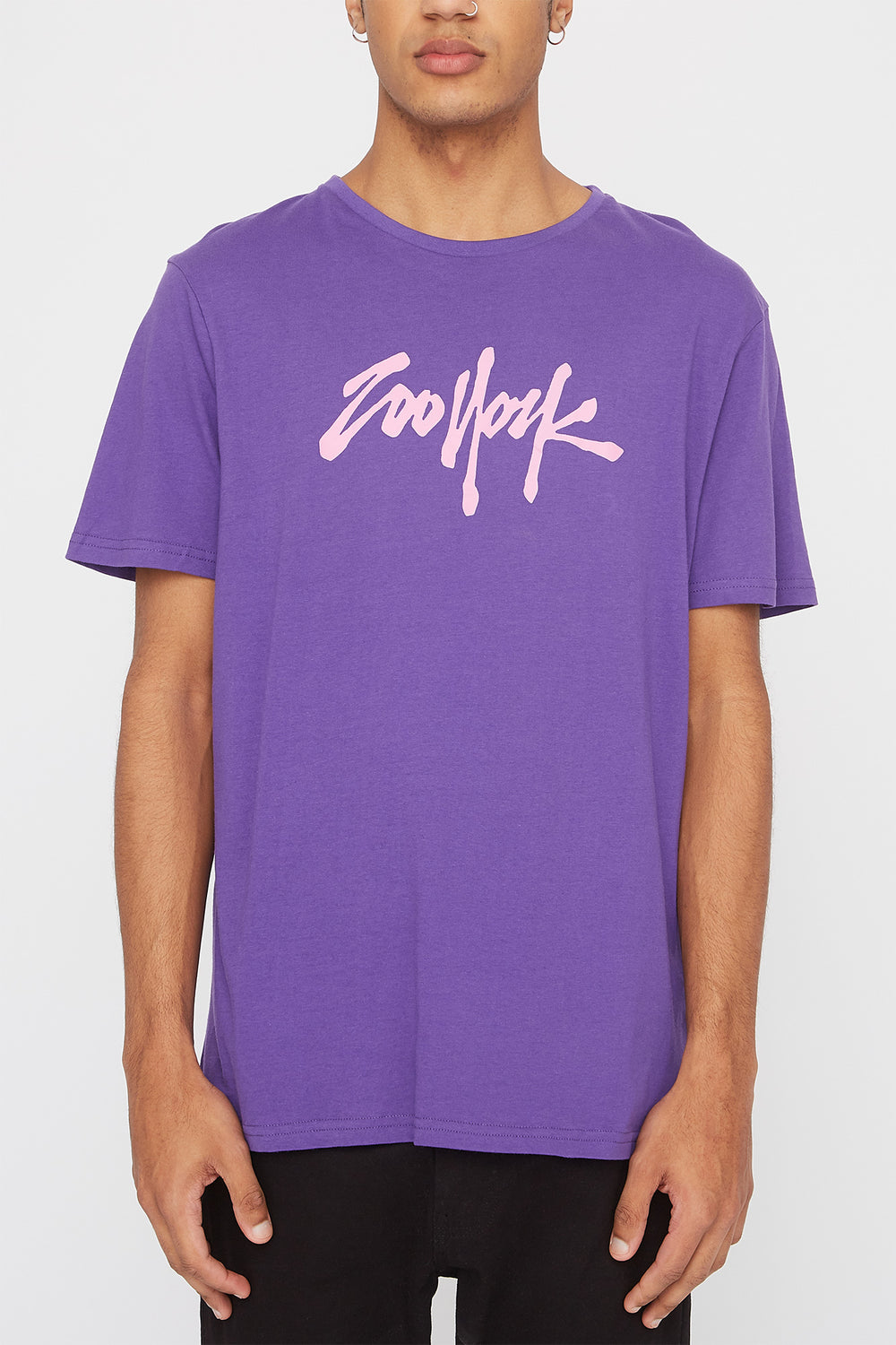 T-Shirt Quartiers NYC Zoo York Homme Violet