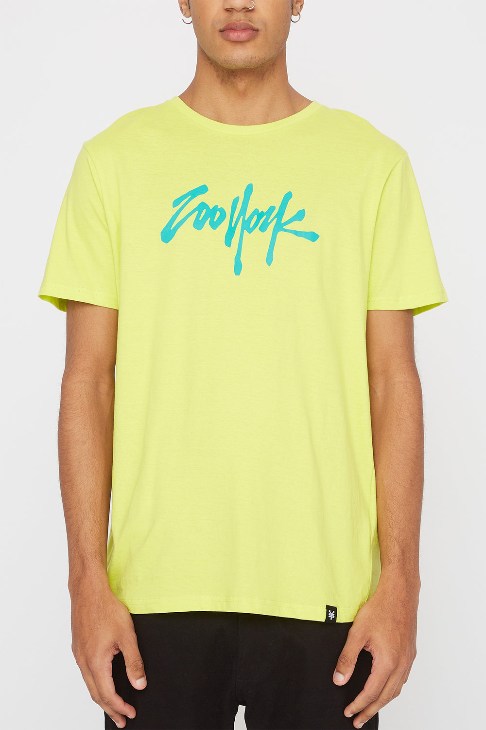 T-Shirt Quartiers NYC Zoo York Homme Jaune