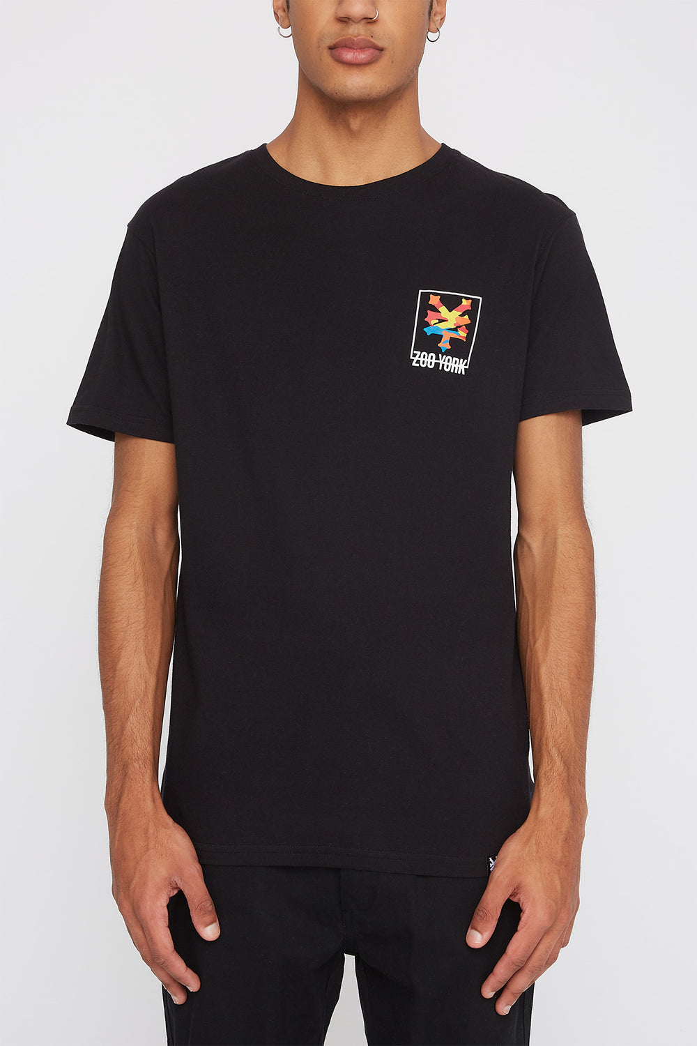 Zoo York Mens Rainbow Camo Logo T-Shirt Black