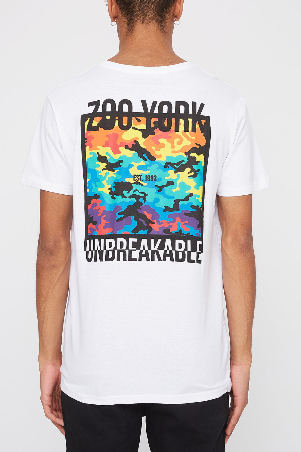 Zoo York Mens Rainbow Camo Logo T-Shirt White
