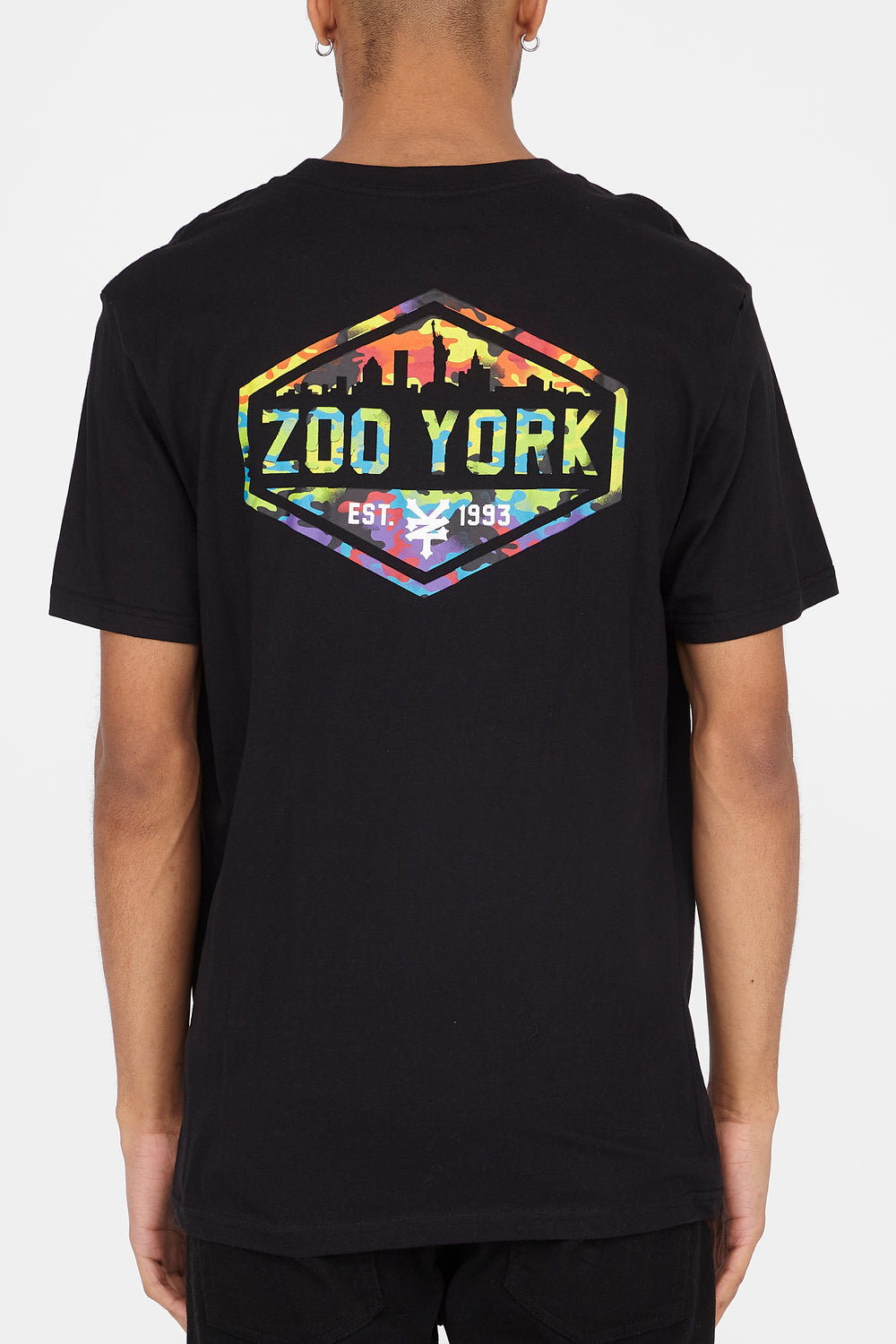T-Shirt Logo Skyline Multicolore Zoo York Homme Noir