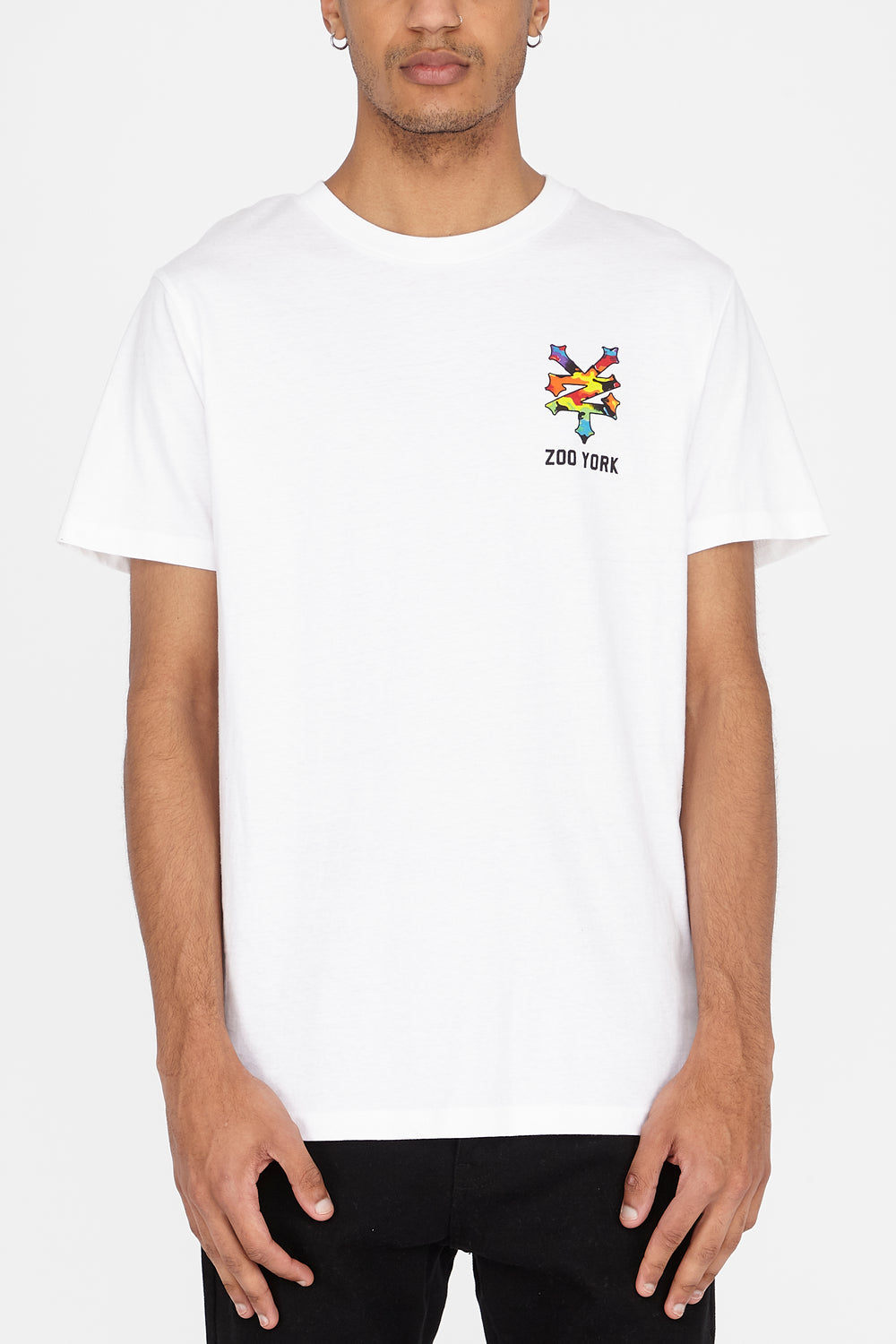 T-Shirt Logo Skyline Multicolore Zoo York Homme Blanc