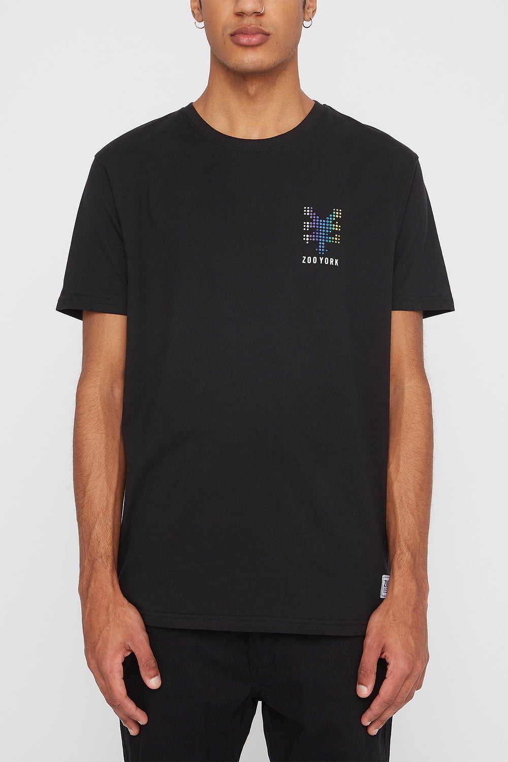 Zoo York Mens Rainbow Dots T-Shirt Black