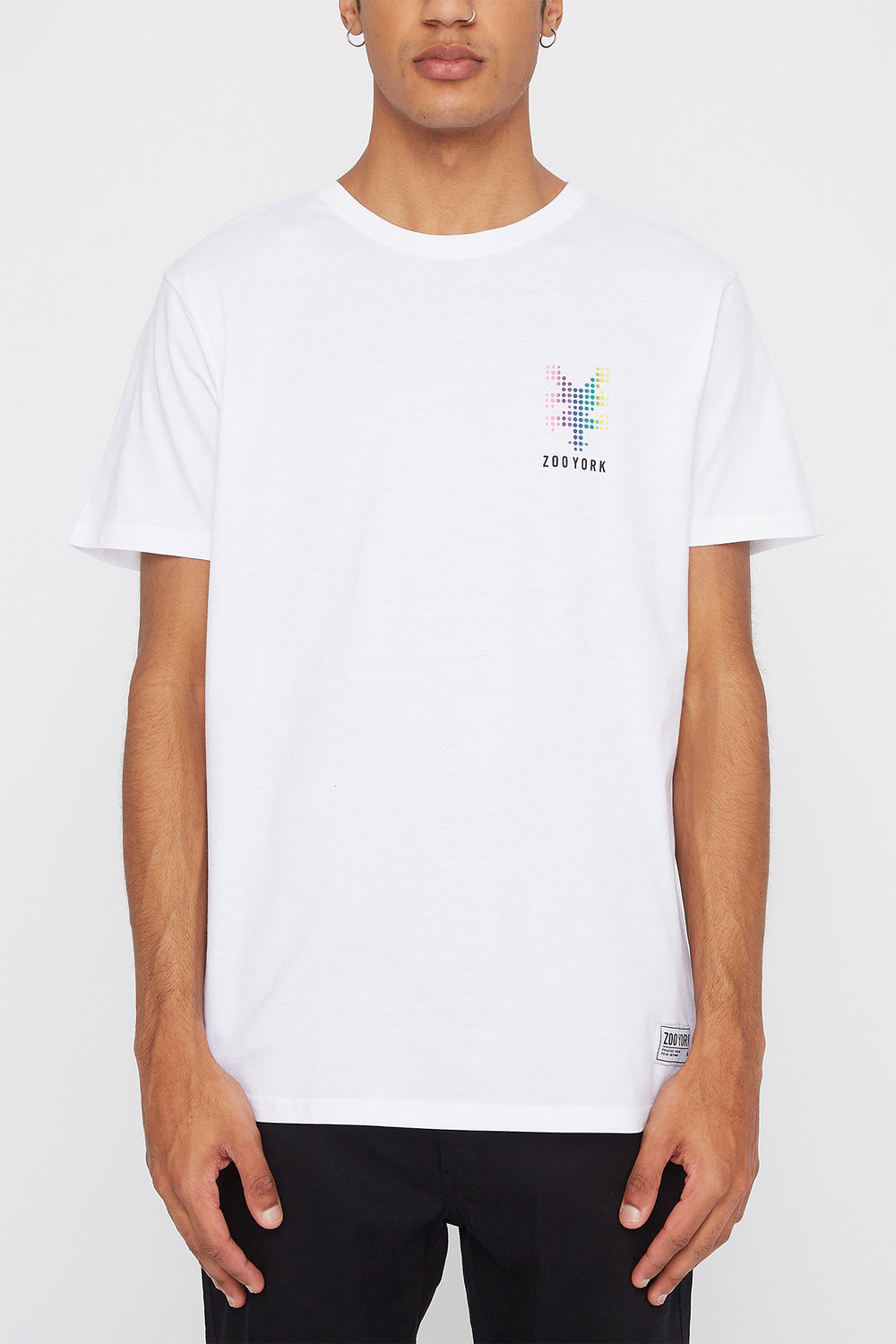 T-Shirt Points Arc-En-Ciel Zoo York Homme Blanc