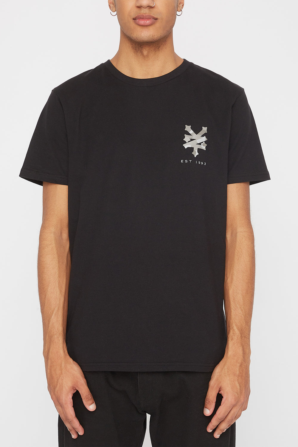 Zoo York Mens Camo Fill Logo T-Shirt Black