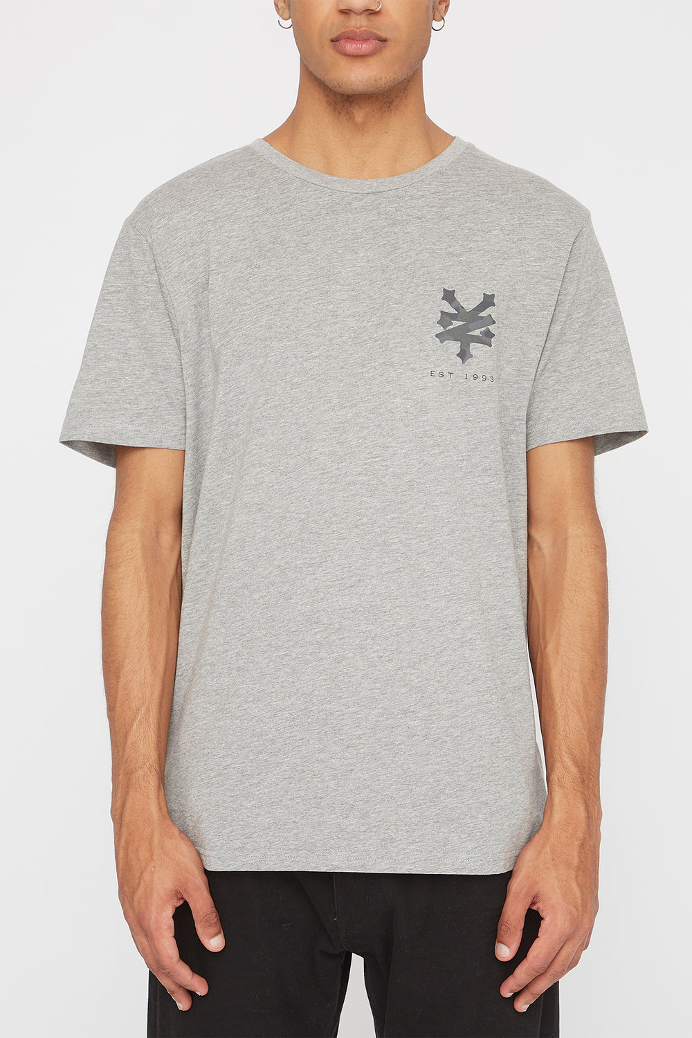 T-Shirt Logo Camouflage Zoo York Homme Gris