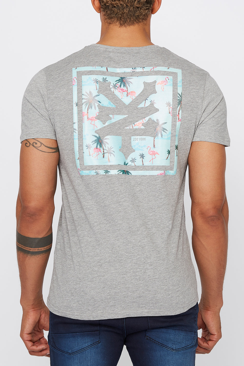 T-Shirt Flamants Roses Zoo York Homme Gris