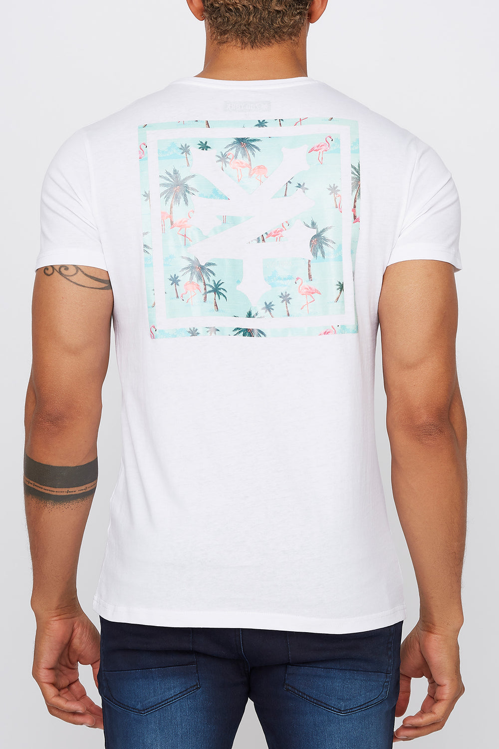 T-Shirt Flamants Roses Zoo York Homme Blanc