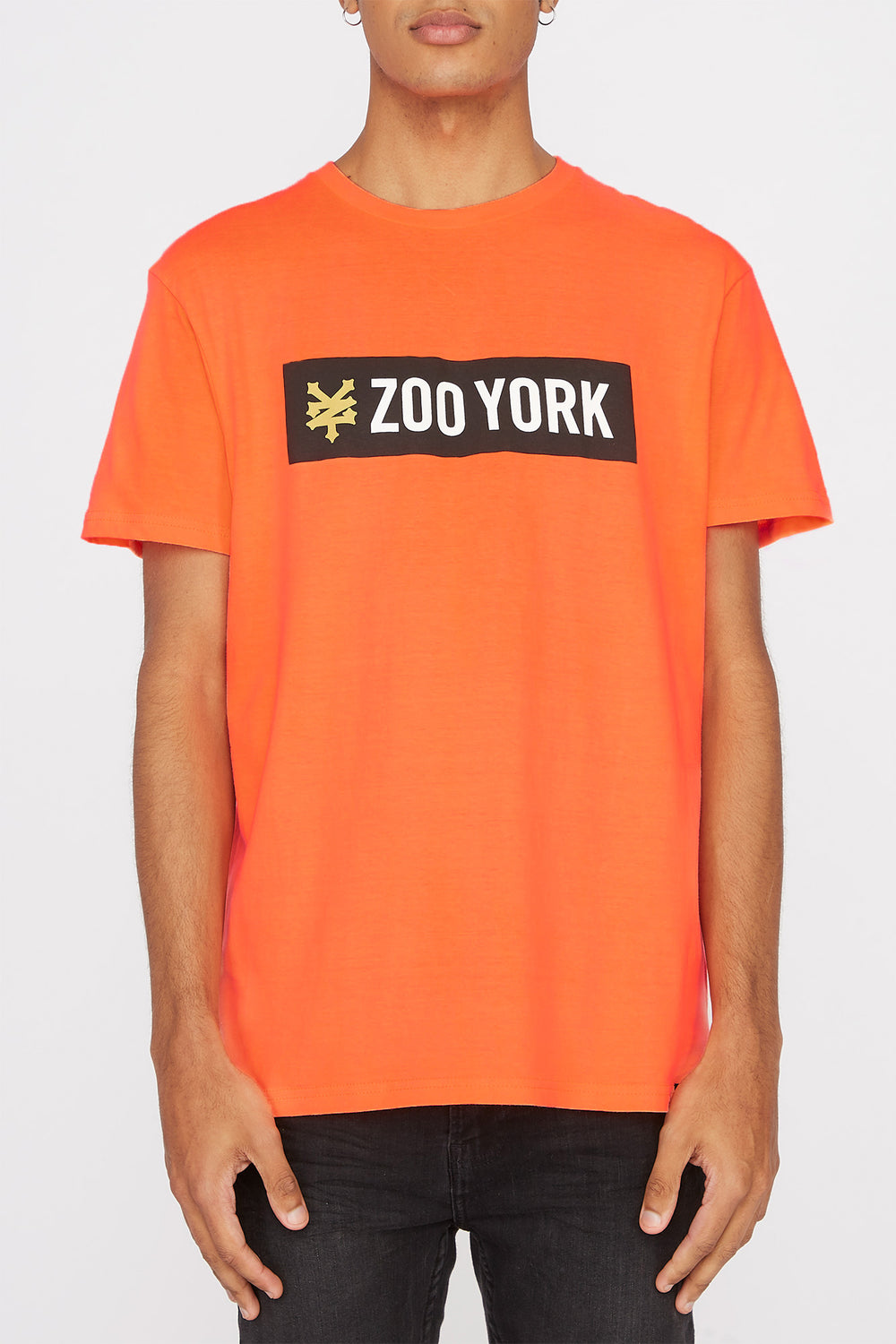 Zoo York Mens Classic Logo T-Shirt Orange