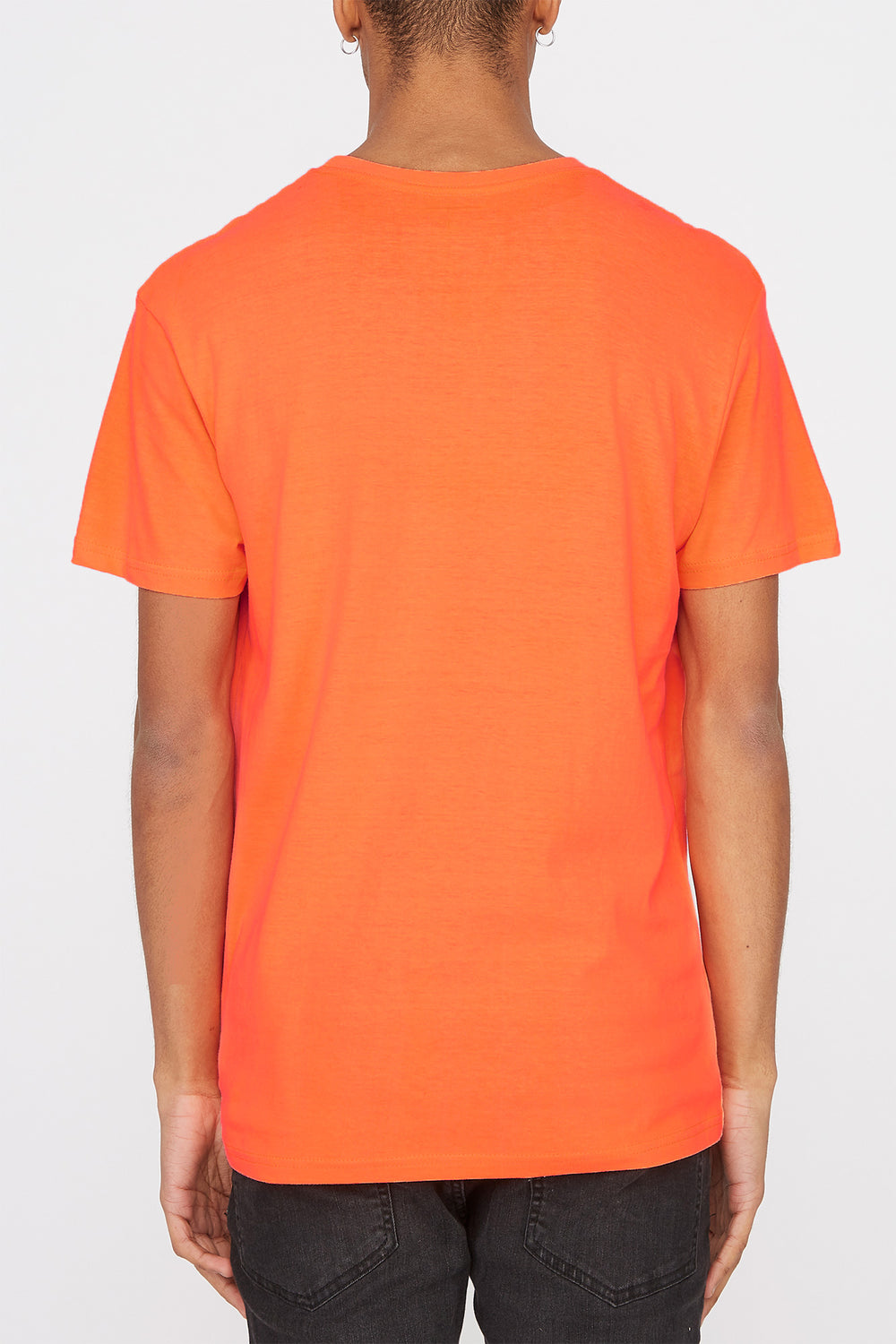 T-Shirt Logo Classique Zoo York Homme Orange