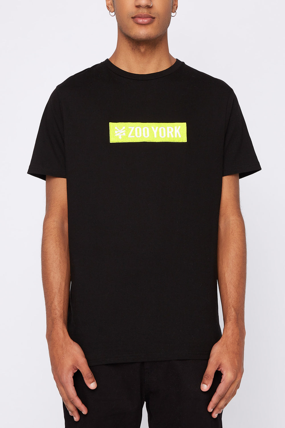 T-Shirt Logo Patch Zoo York Homme Noir