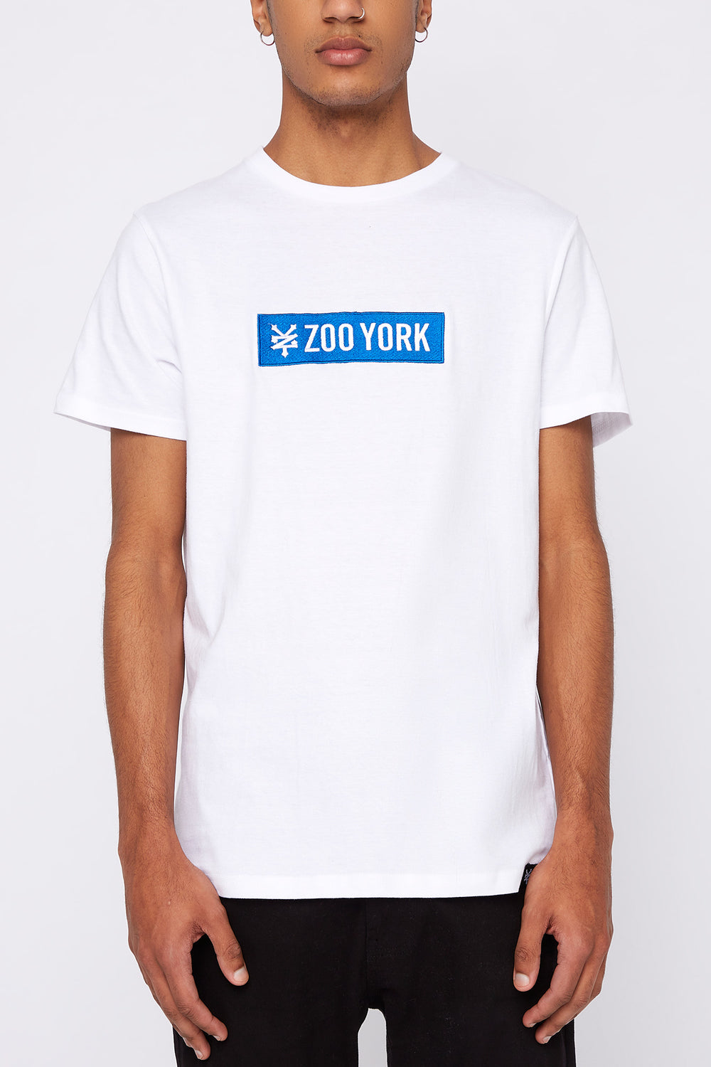 T-Shirt Logo Patch Zoo York Homme Blanc