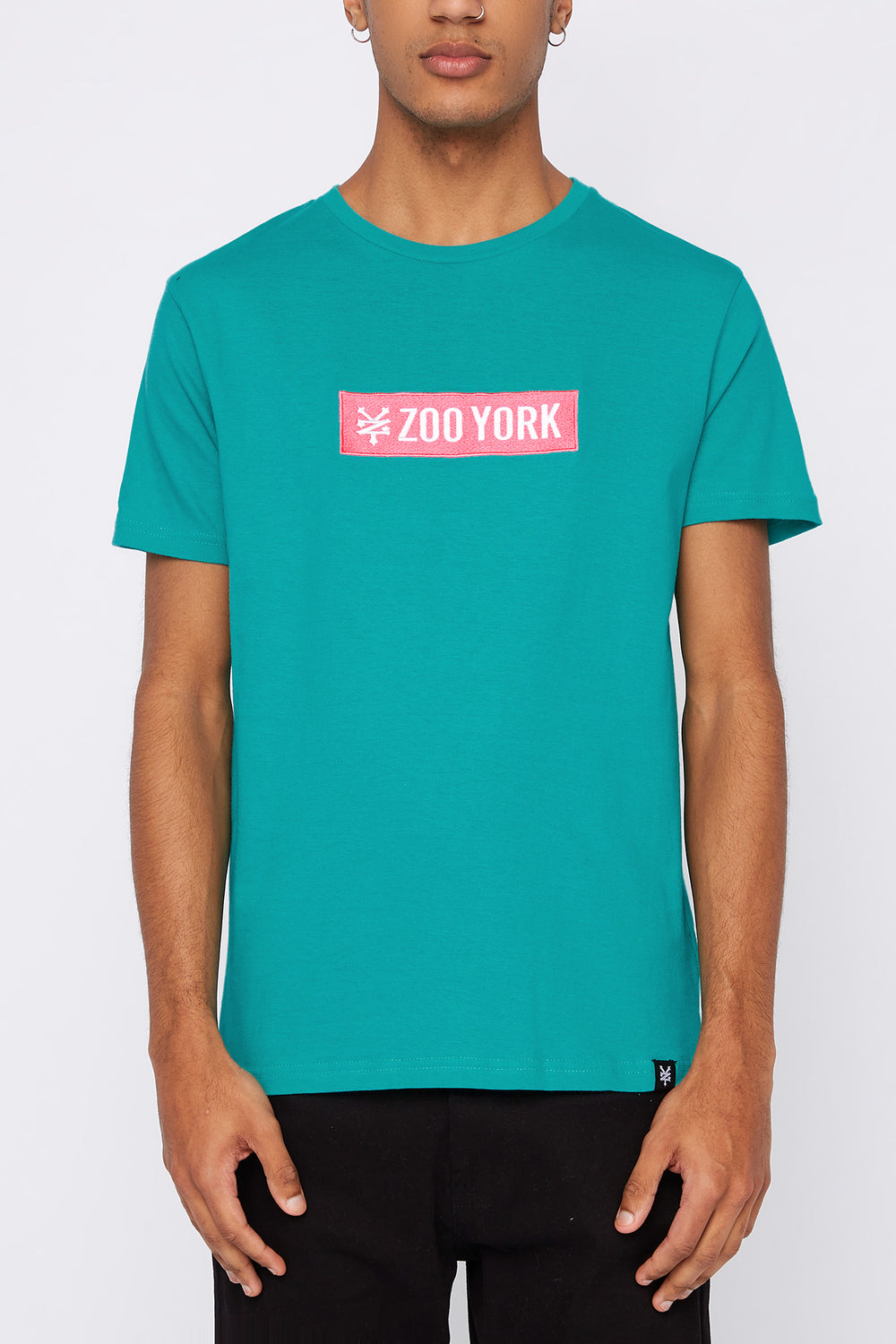 T-Shirt Logo Patch Zoo York Homme Turquoise
