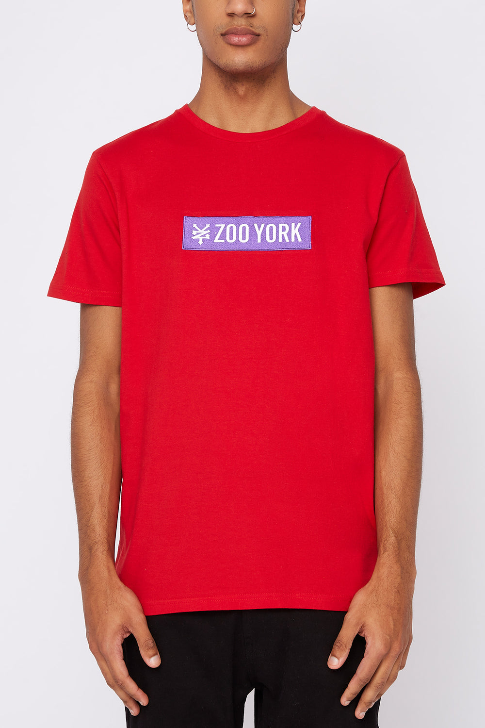 T-Shirt Logo Patch Zoo York Homme Rouge