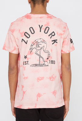 T-Shirt Tie-Dye Logo Flamant Rose Zoo York Homme