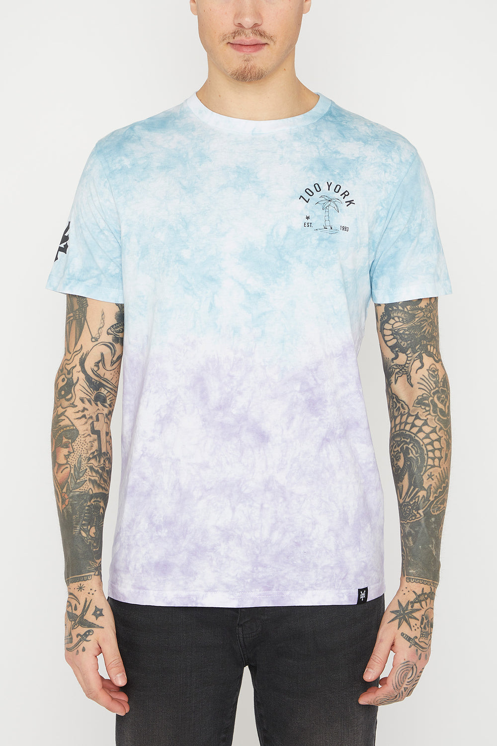 Zoo York Mens Tie-Dye T-Shirt Purple