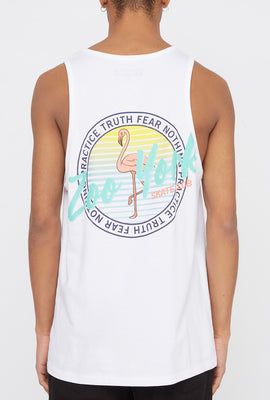 Zoo York Mens Circle Logo Flamingo Tank Top