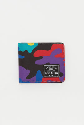 Zoo York Mens Rainbow Camo Canvas Wallet