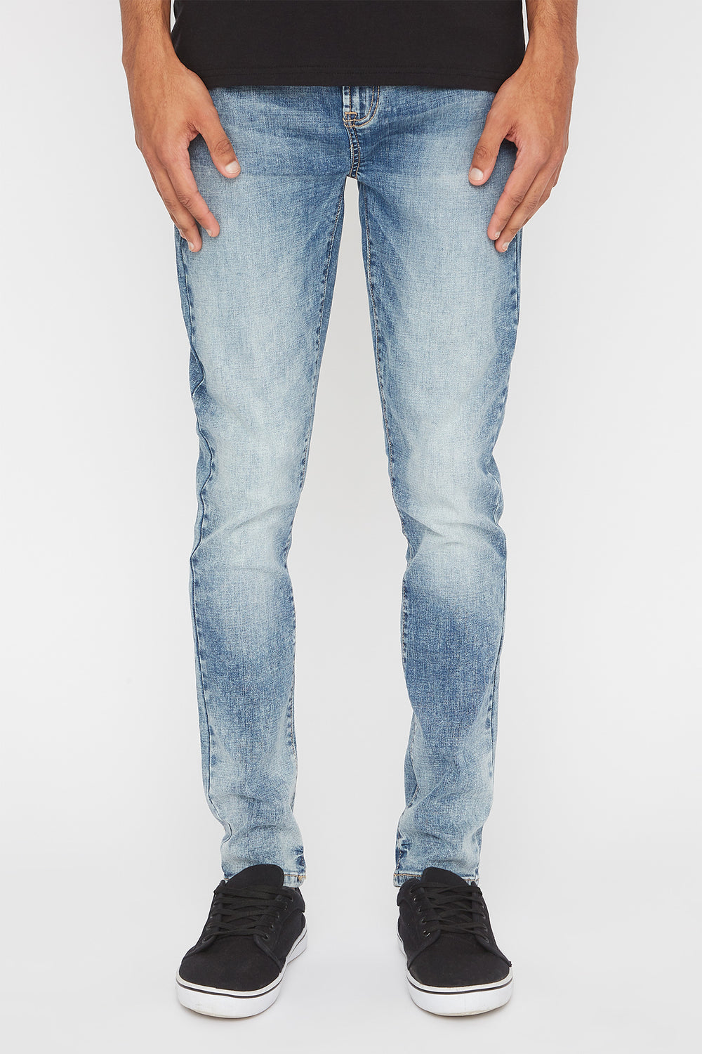 Zoo York Mens Stretch Skinny Jeans Light Blue