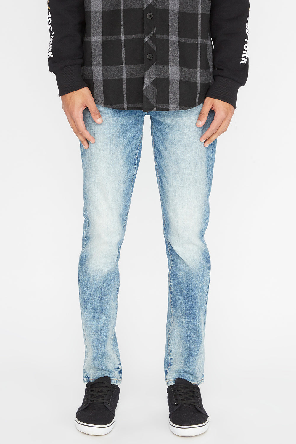 Zoo York Mens Slim Jeans Light Blue
