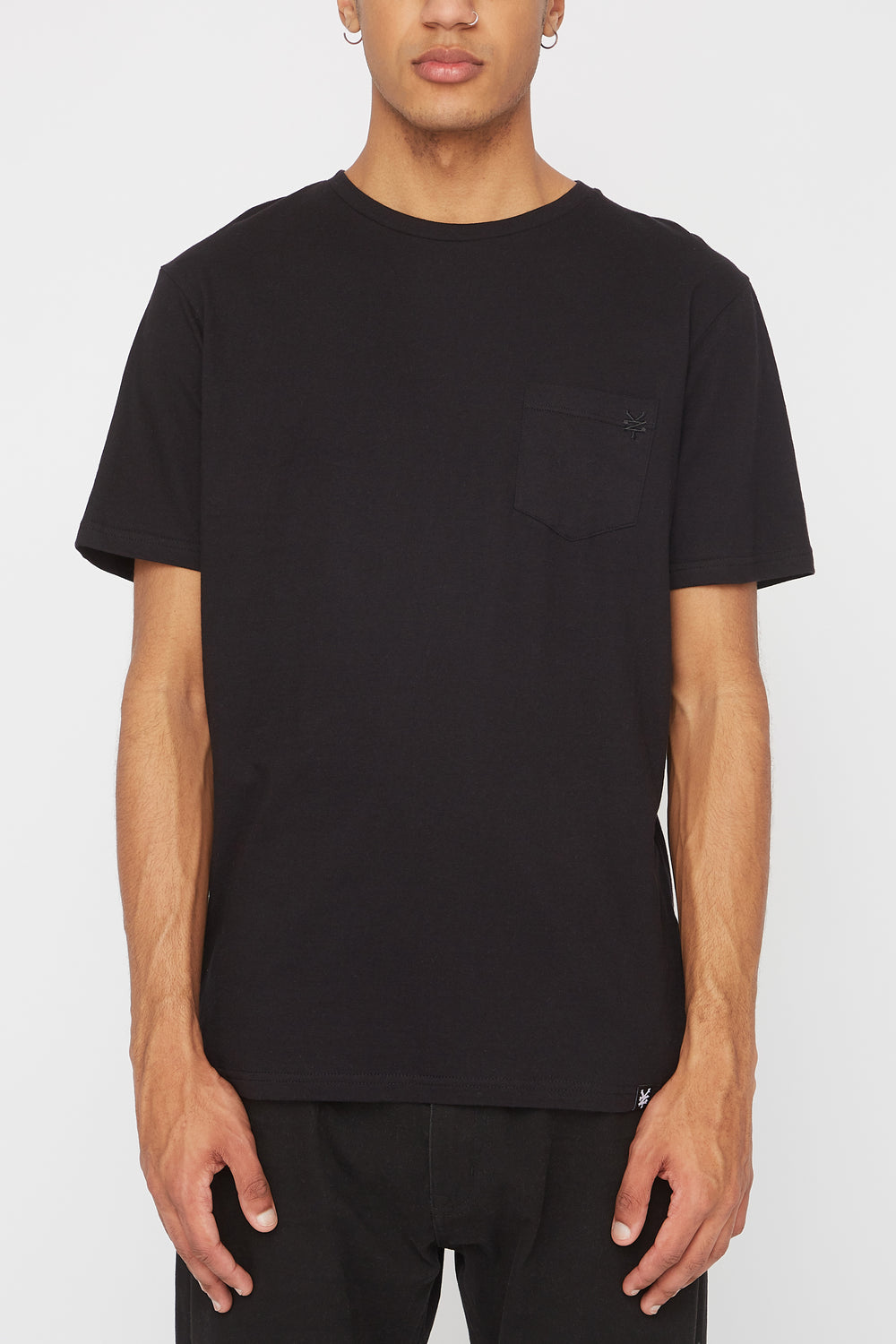 Zoo York Mens Embroidered Logo Pocket T-Shirt Black