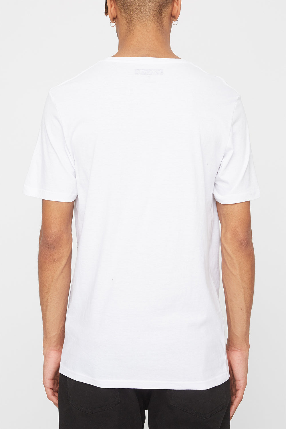 Zoo York Mens Embroidered Logo Pocket T-Shirt White