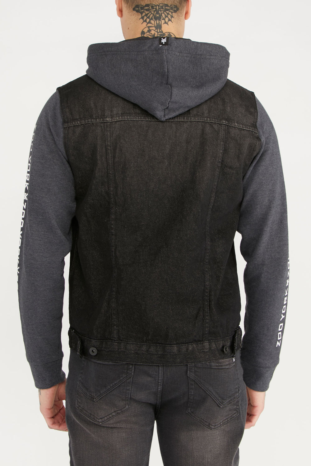 Zoo York Mens Denim and Fleece Jacket Black