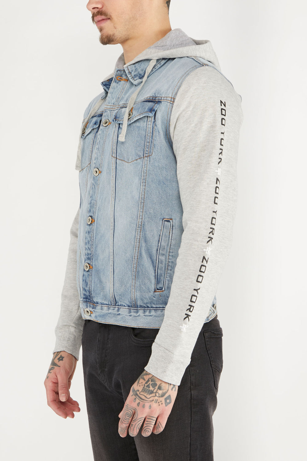 Zoo York Mens Denim and Fleece Jacket Denim Blue