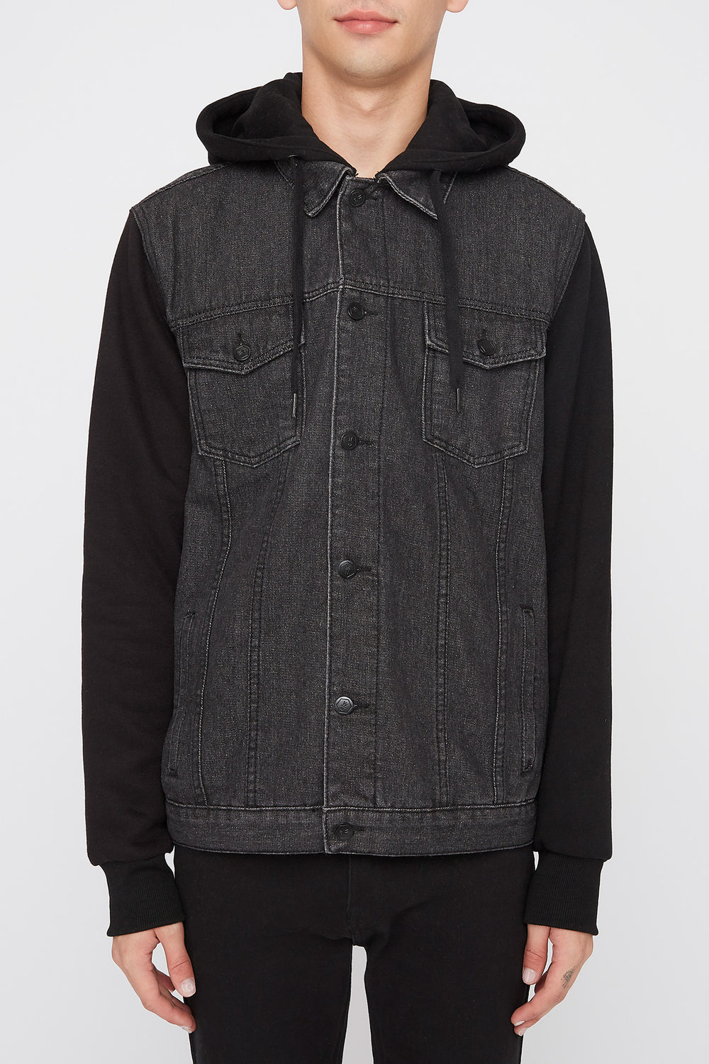 Manteau En Denim West49 Homme Noir