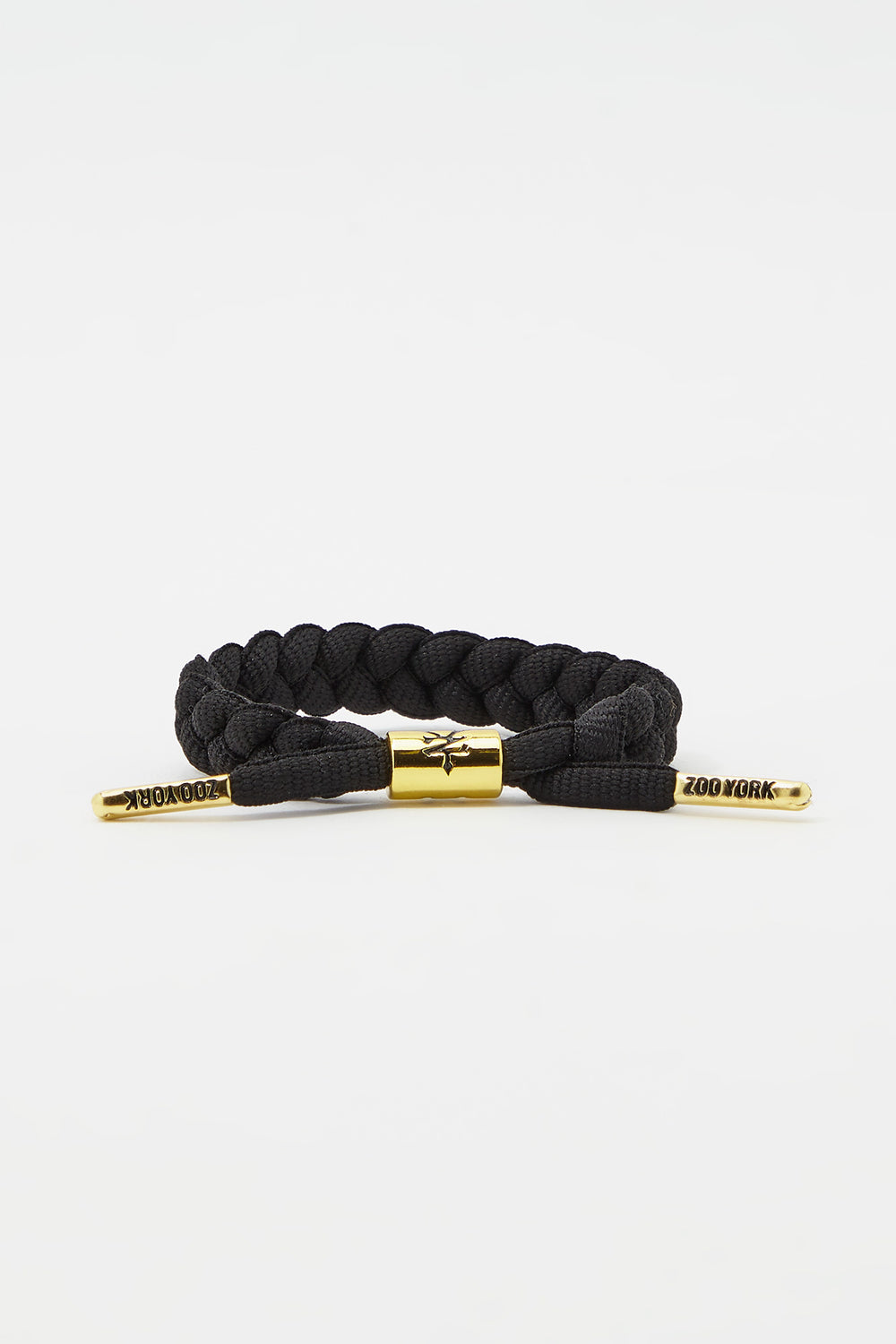 Zoo York Gold Tipped Braid Bracelet Black