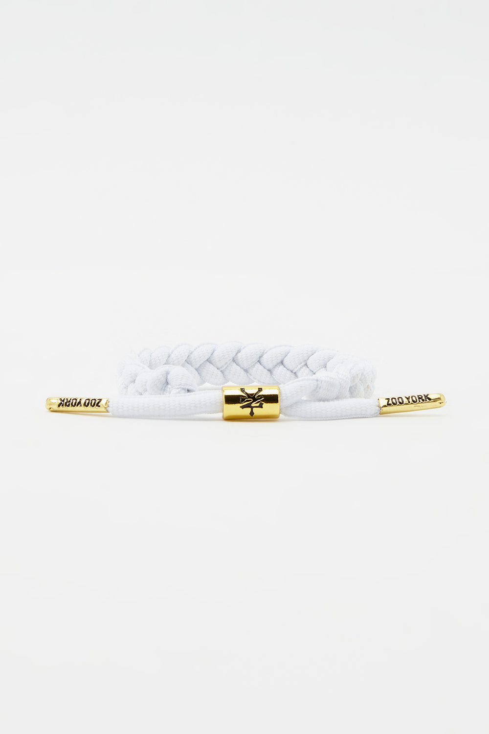 Zoo York Gold Tipped Braid Bracelet White