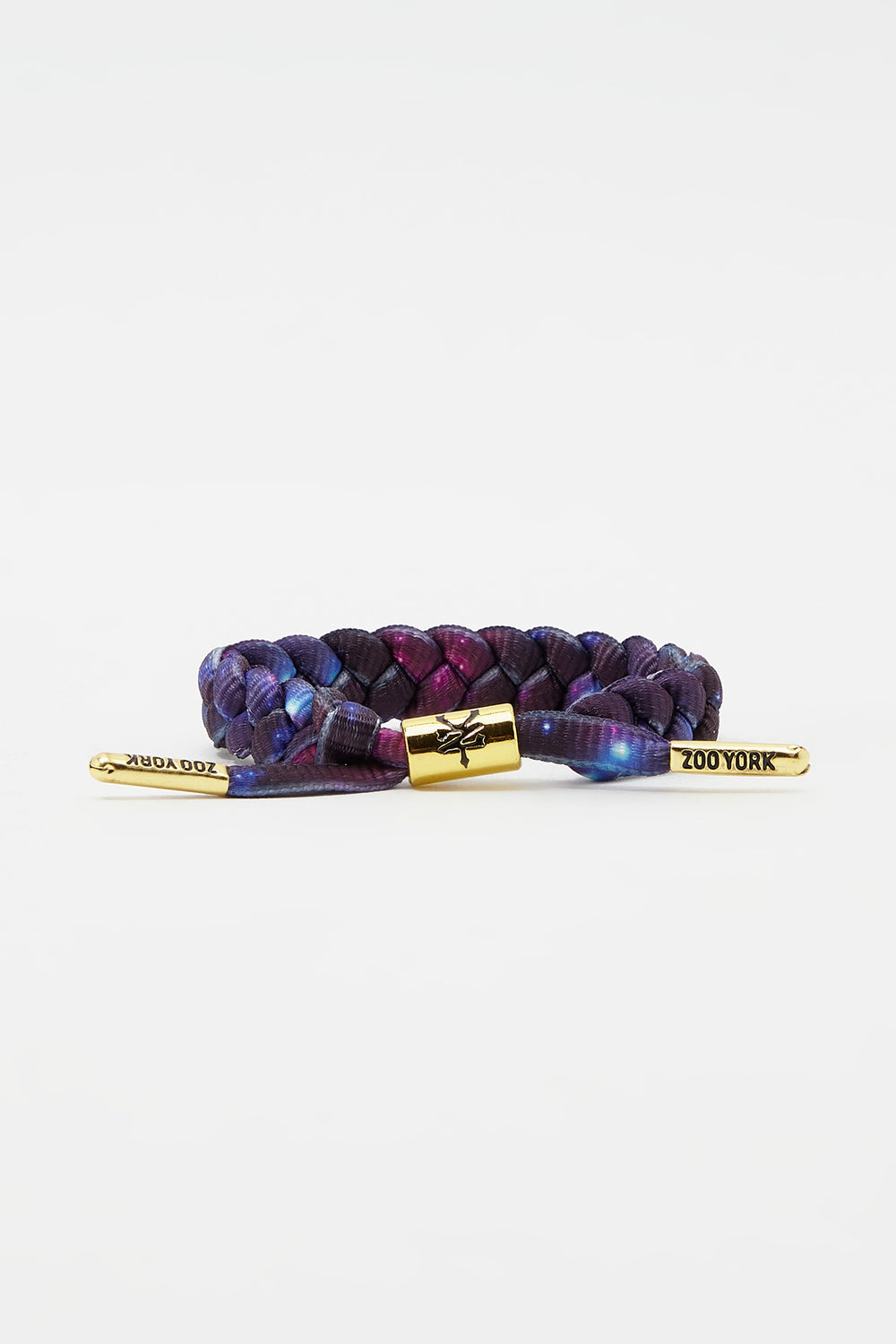 Zoo York Gold Tipped Braid Bracelet Purple